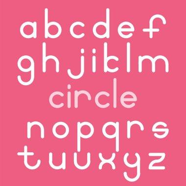 rounded style alphabet