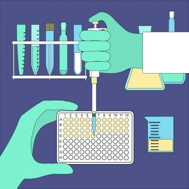 hand holding pcr plate