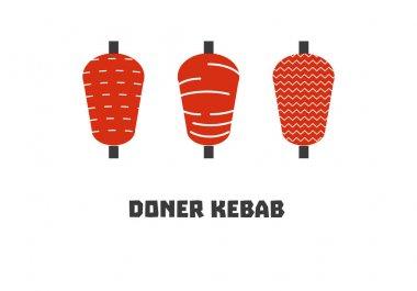 doner kebab icon set
