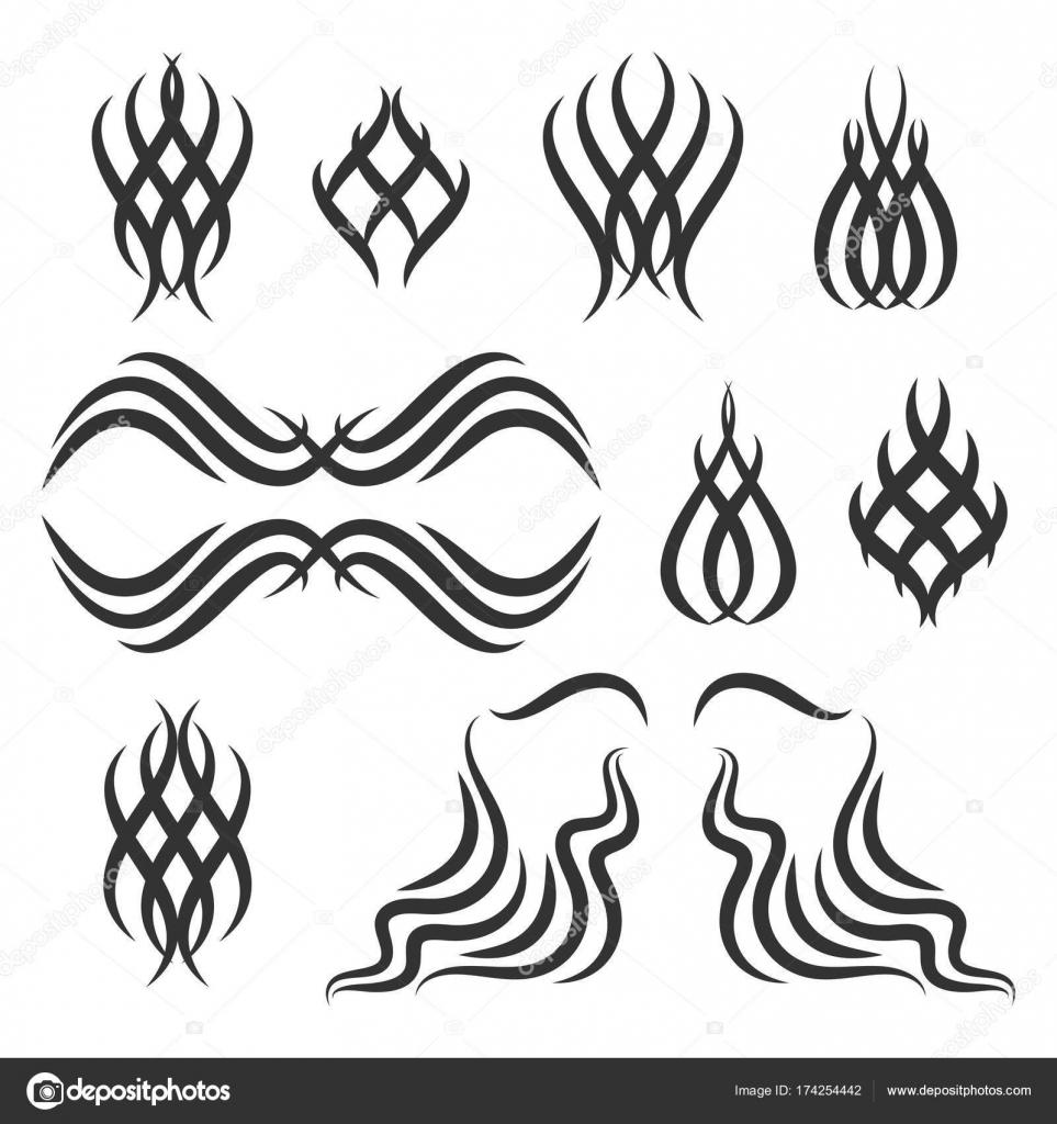 Einfaches Tribal Tattoo Elemente Stockvektor C Greenvector 174254442