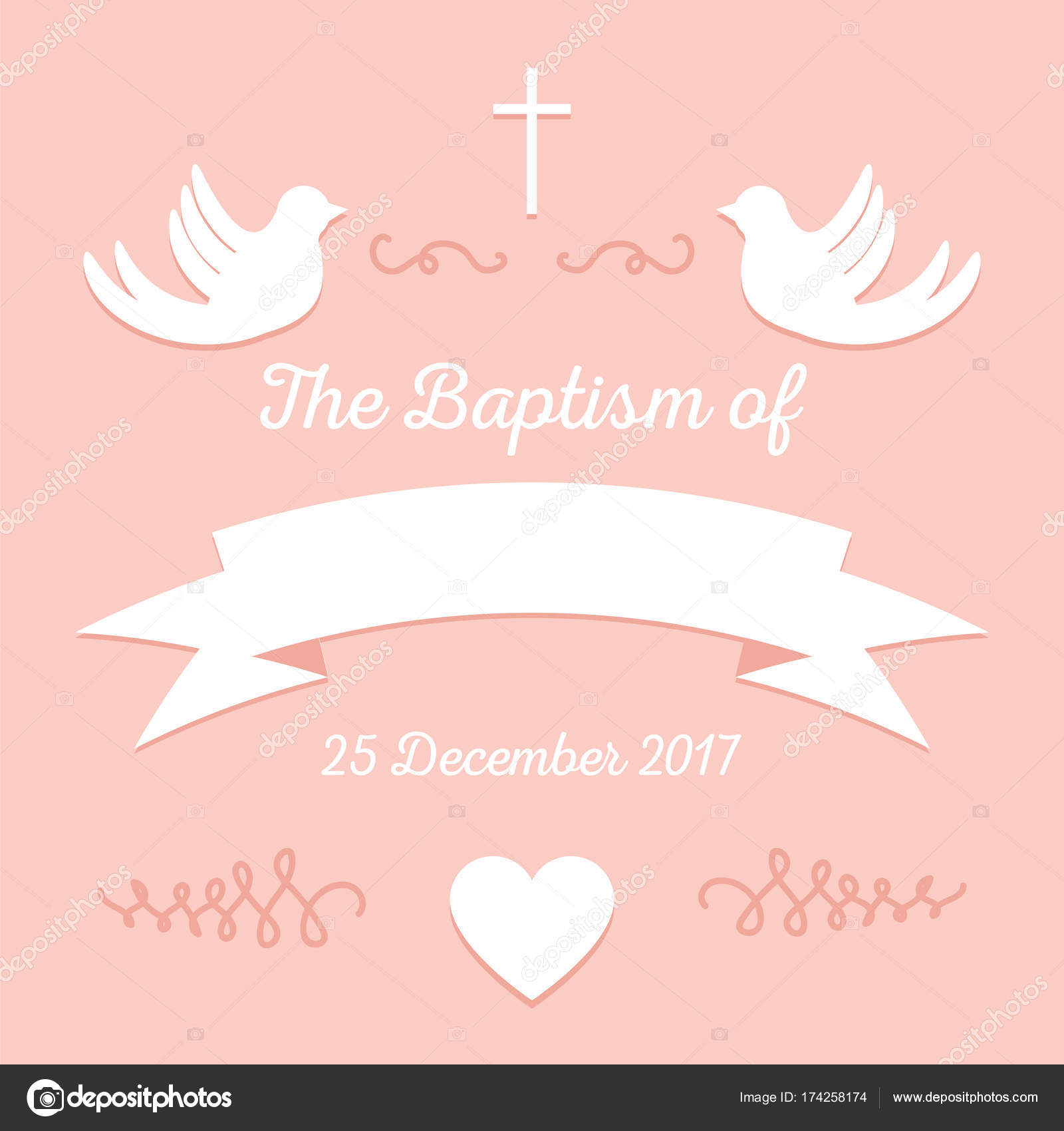 Baptism Invitation Template Stock Vector C Greenvector 174258174