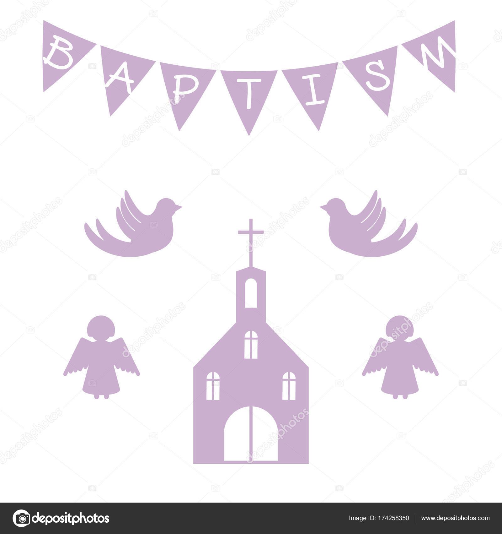 Taufe Einladung Vorlage U2014 Stockvektor