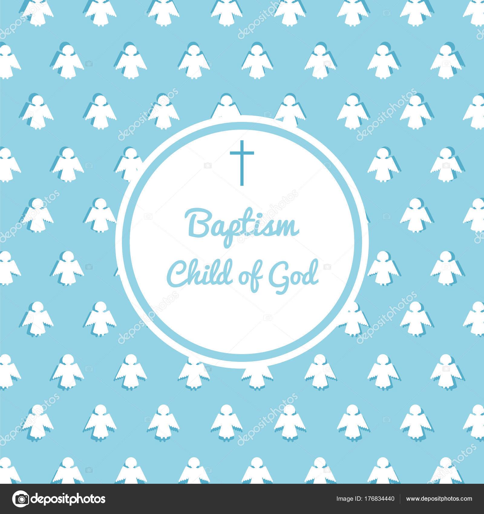 Baptism invitations templates | Baptism invitation template — Stock Vector  © GreenVector #176834440