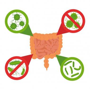 stop bacteria sign set