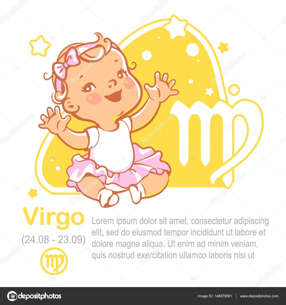 Zodiaco del bebé. Cabrito como signo zodiacal acuario — Vector de ...