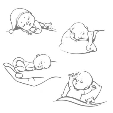 Sleeping baby set.