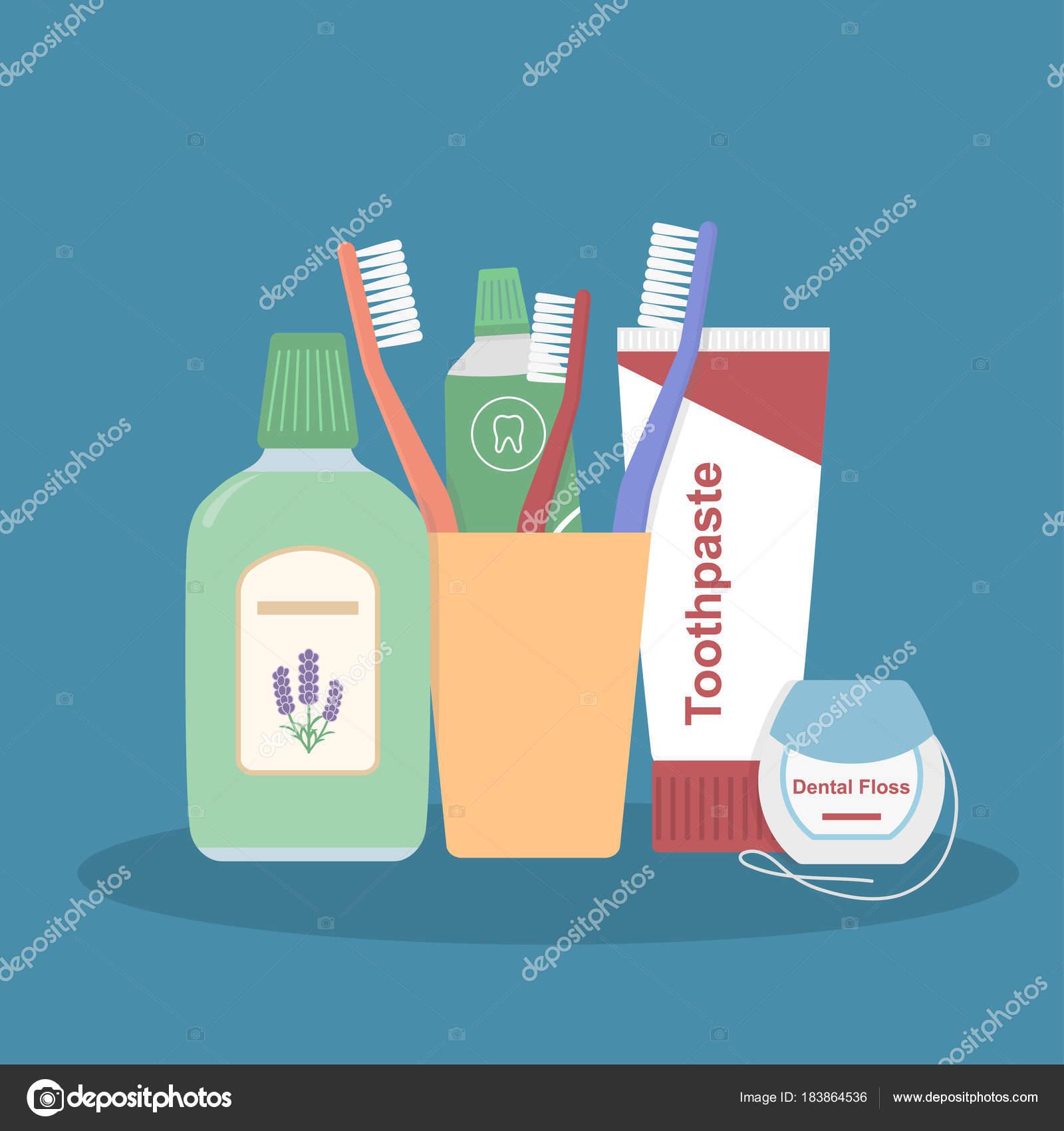 1da39945b Conjunto Ferramentas Limpeza Dentais Escovas Dentes Creme Dental ...