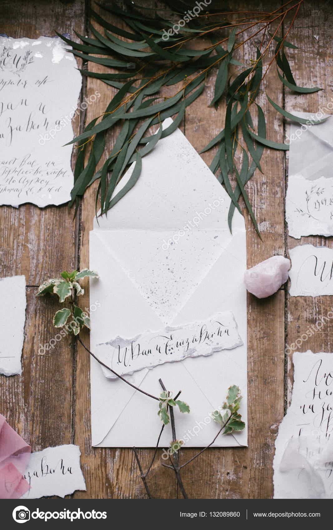 Grafik Der Schonen Kalligraphie Hochzeitskarten Mit Blumen Und