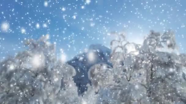 Schneefall in den Bergen