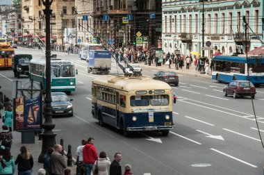 The third St. Petersburg parade of retro cars on the Nevsky Pros