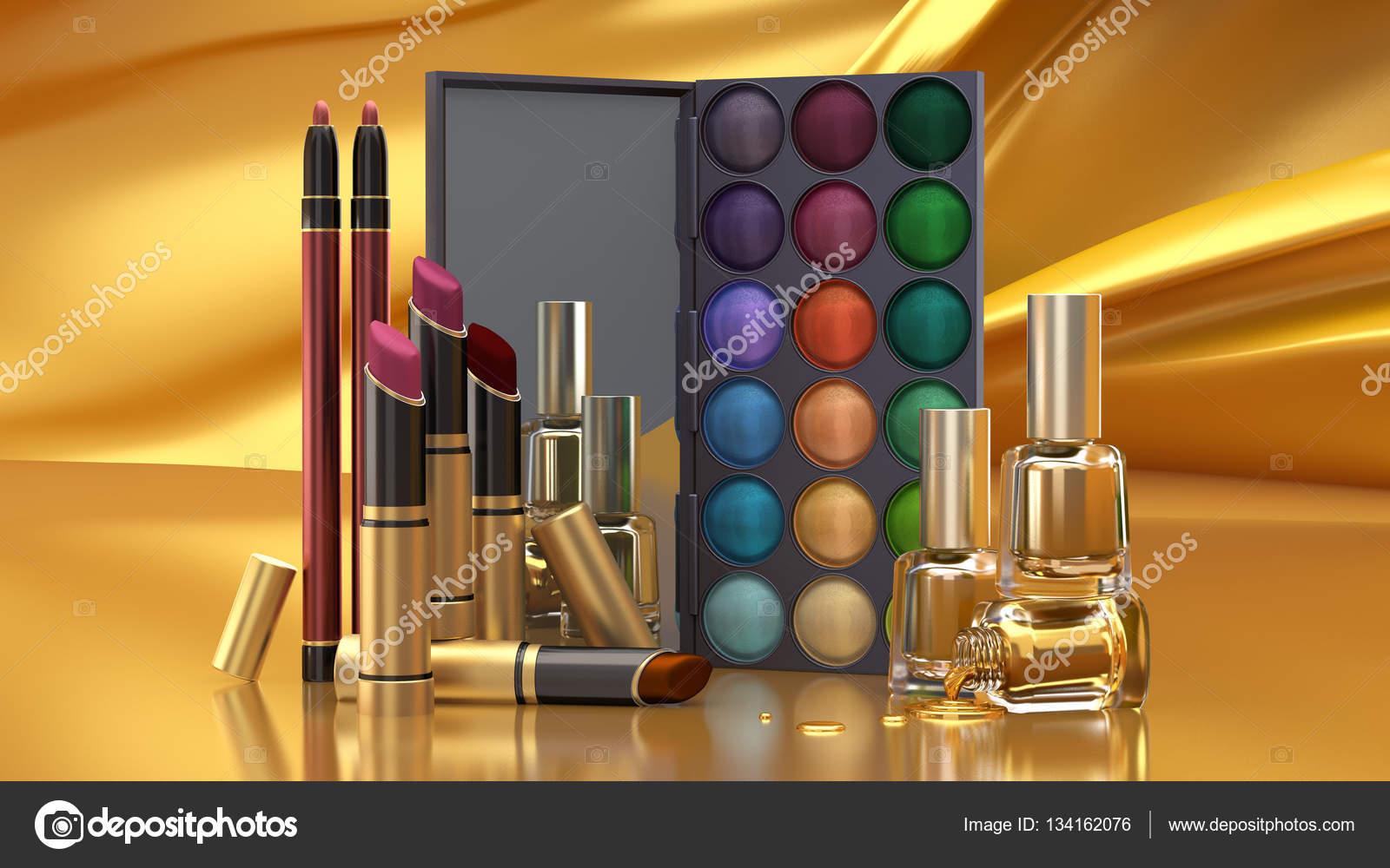 装飾的な化粧品、3 d イラストレーター、3 d レンダリング