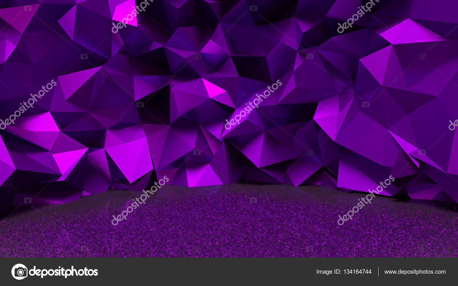 紫、金属の背景。3 d イラストレーター、3 d レンダリング