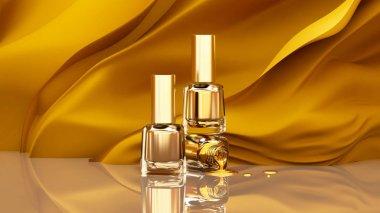 Nail polish. Beautiful, fashionable glamor background illustrati