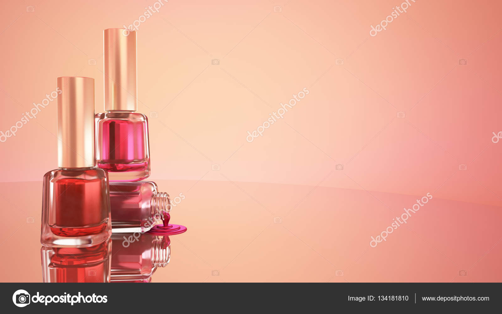 Nail polish. Blue background. Fashion, makeup, manicure, nails ...