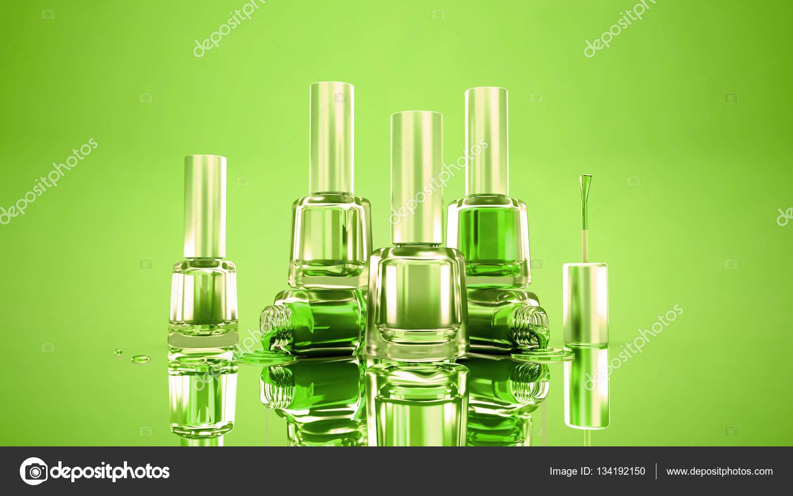Happy Green Sommer stilvollen Rahmen mit Flaschen Nagel polis ...