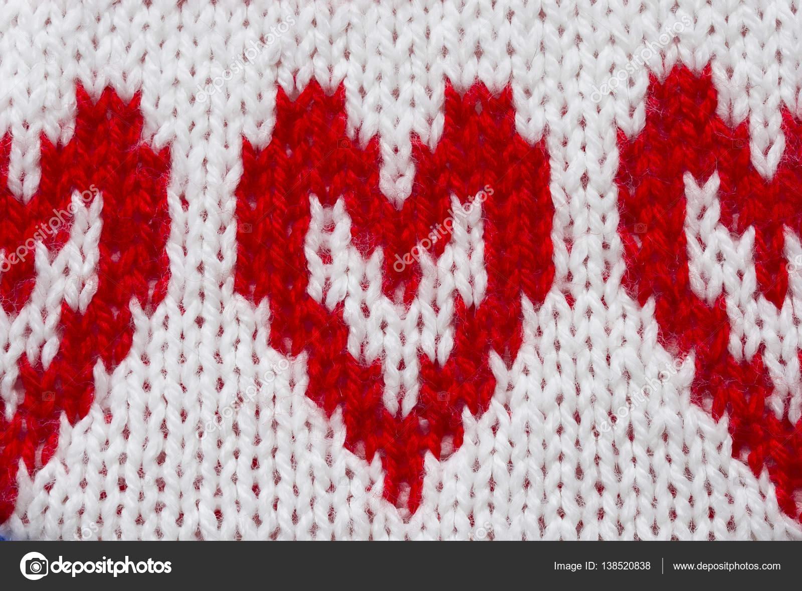 Rotes Herz Häkeln Und Stricken Tuch Stockfoto Nataba16 138520838
