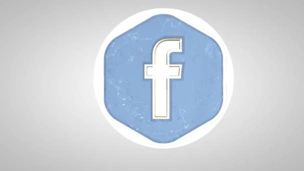 Editorial Animation: 3D Rotating Facebook logo