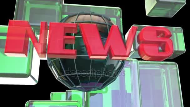 Broadcast News Erdkugel Eröffnung Intro Titel Animation