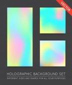 Fotografie Holographische trendige Hintergründe