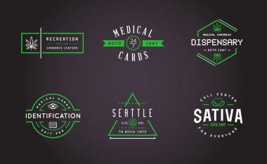 Set of Medical Cannabis Marijuana Sign