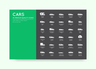 Vector Car Icons Set