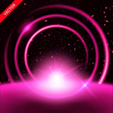 Vector Abstract Background with Luminous Backdrop