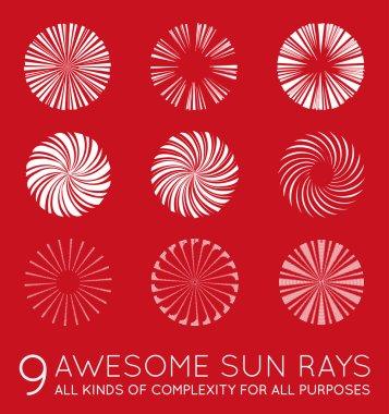 Sunburst Vector Rays of Sun