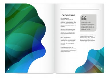 geometric design style brochure
