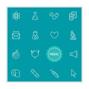 Set of Medical Hospital Vector Illustration Elements