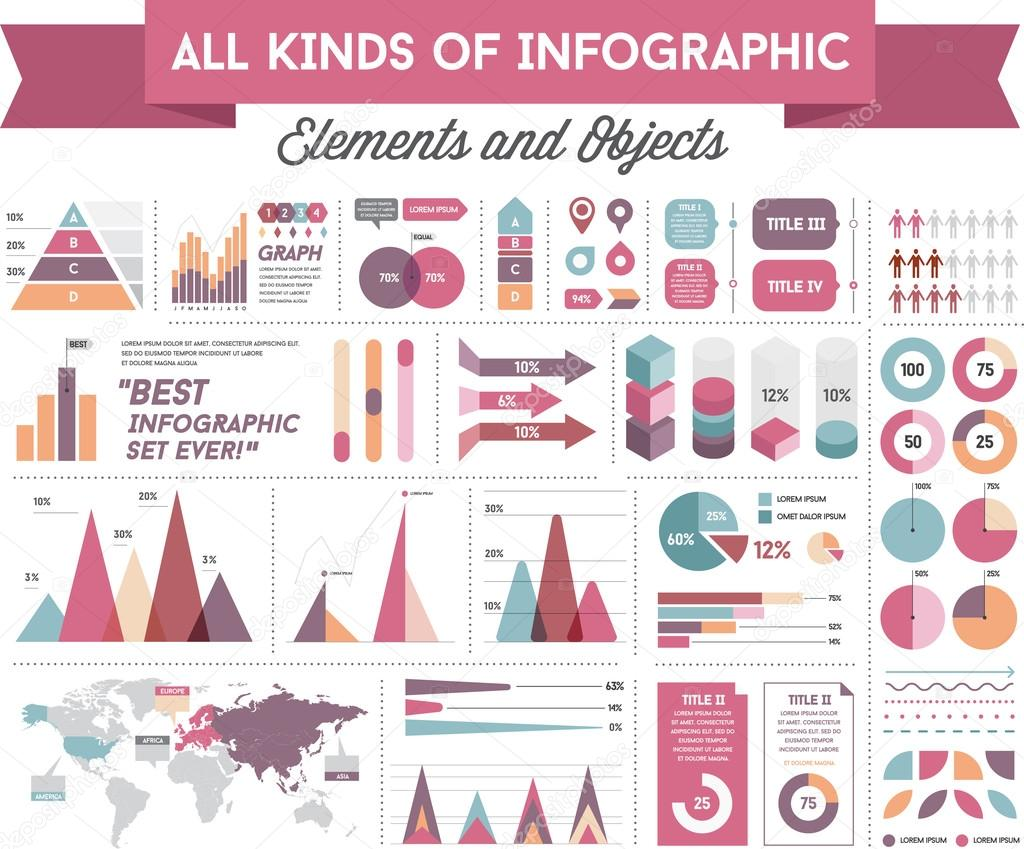 Infographics Elements and Objects