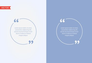 Quote Template, Vector Quote