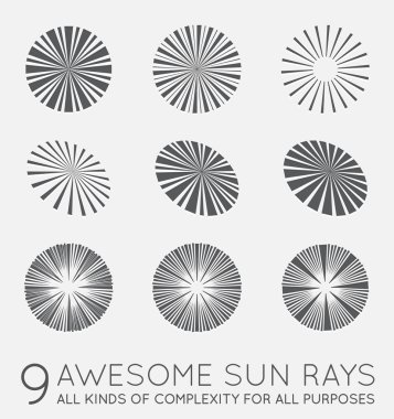 Sunburst Vector Rays of Sun
