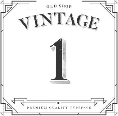 Vector Vintage Font