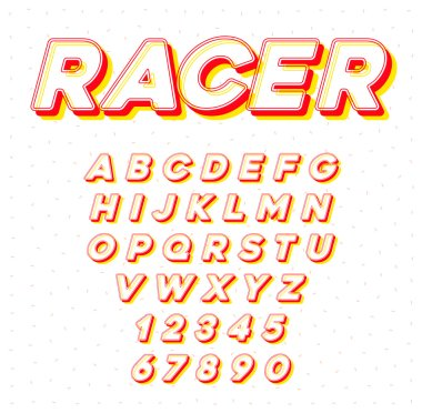 Vector Speed Racing Sport Italic Font