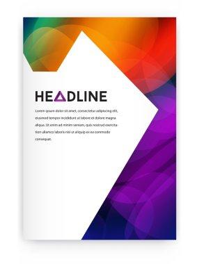 geometric design style brochure