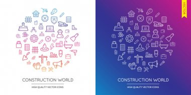 Set of Construction Modern Icons