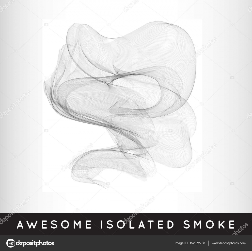realistic smoke template stock vector ckybe 152872758