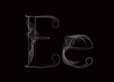 Haze font type letters EE