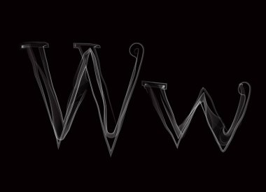 Haze font type letters WW