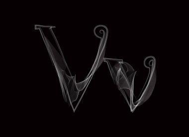 Haze font type letters VV