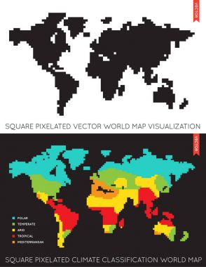 Set of Maps of the World