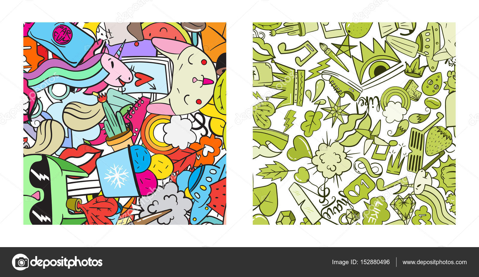 Set of graffiti pattern with urban lifestyle line icons crazy doodle abstract vector background trendy linear style collage with bizarre street art