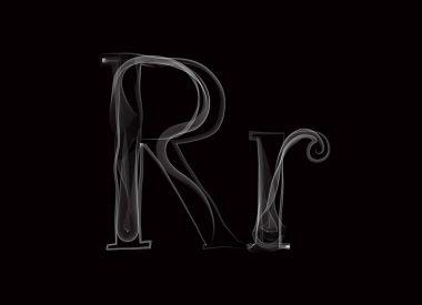 Haze font type letters RR