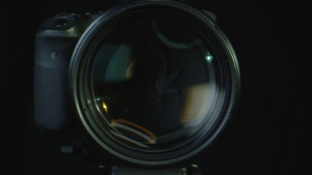 Makro detailní záběr fotoaparátu pracuje