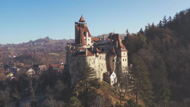 Aerial View Of Bran Castle Of Dracula In Brasov, Transylvania Romania
