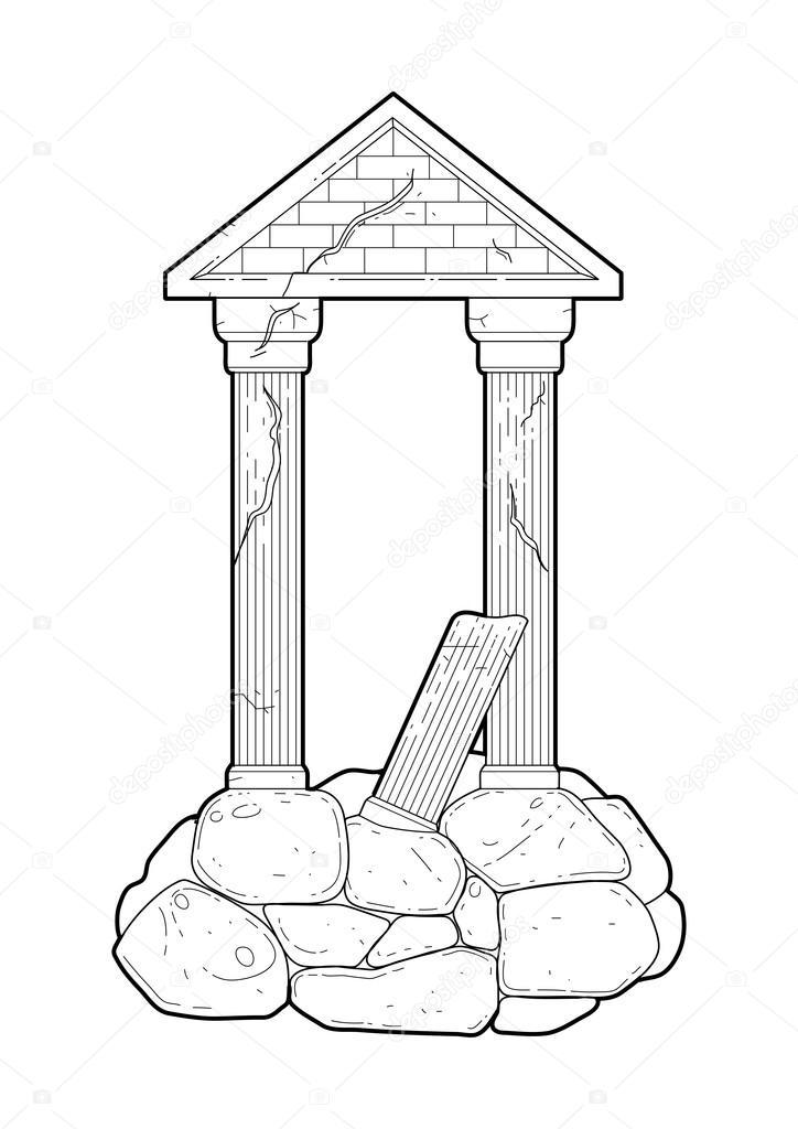 Gráfico ruina antigua arquitectura — Vector de stock © homunkulus28 ...