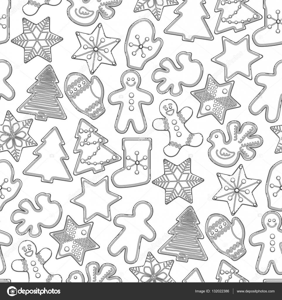 Pan de jengibre de Navidad gráfico — Vector de stock © homunkulus28 ...