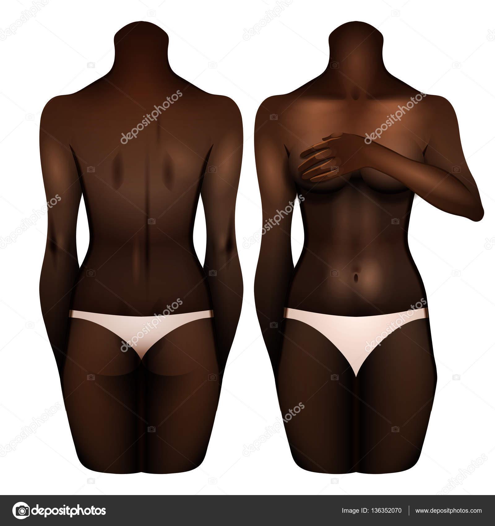 f805973c2bf3 Cuerpo de las mujeres afroamericanas — Vector de stock ...