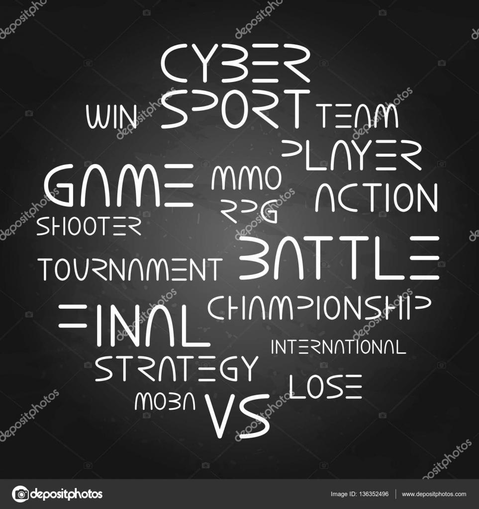 Frases De Esporte De Cyber Vetores De Stock Homunkulus28