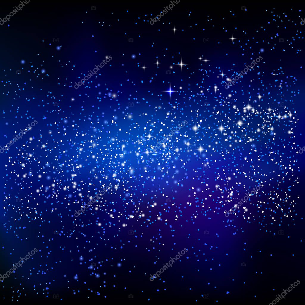 Outer space starry design